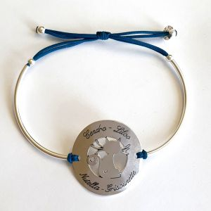 Bracelet rond bombé chat 34 mm
