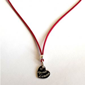 Collier coeur 15 mm